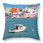 City Of Hamilton Bermuda Throw Pillow
