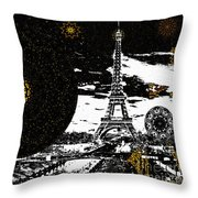 City Of Lights - Kaleidoscope Moon For Children Gone Too Soon Number 6  Throw Pillow