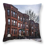 Cityview Cooperative, Minneapolis Throw Pillow