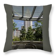 Civic Center Metro Station Los Angeles Throw Pillow