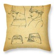 Civil War Military Hat Throw Pillow