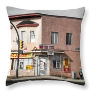 Cj Grocery Throw Pillow by Juan Contreras