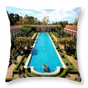 Classic Awesome J Paul Getty Architectural View Villa  Throw Pillow