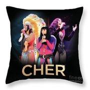 Classic Cher Trio Throw Pillow