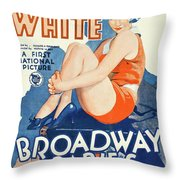 Classic Movie Poster - Broadway Babies Throw Pillow