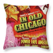 Classic Movie Poster - In Old Chicago Throw Pillow