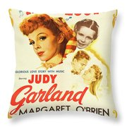 Classic Movie Poster - Meet Me In St. Louis Throw Pillow