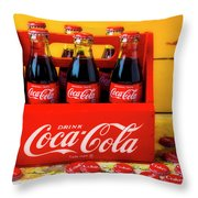 Classic Six Pack Of Cokes Throw Pillow