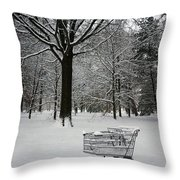 Clean Up On Aisle 4 Throw Pillow