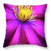 Clematis Flower Throw Pillow