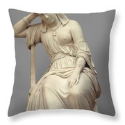 Cleopatra,  Marble Throw Pillow