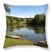 Clerklands Loch, Near Selkirk, Scottish Borders Throw Pillow