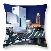 Cleveland Ohio 2019 Throw Pillow