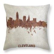 Cleveland Ohio Rust Skyline Throw Pillow