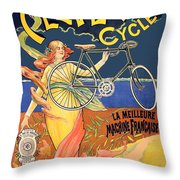 Clever Cycles Throw Pillow