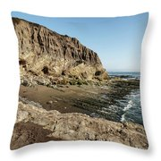 Cliff In The Ocean Throw Pillow