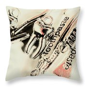 Clinical Tooth Care Throw Pillow