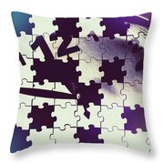 Clock Holes And Puzzle Pieces Throw Pillow