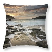 Clogher Strand Dingle Kerry Ireland Throw Pillow