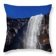 Close Up Bridalveil Falls Throw Pillow