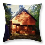 Closing The Cabin For Winter Throw Pillow