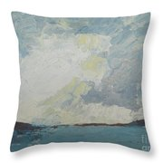 Cloud Above The Sea Throw Pillow