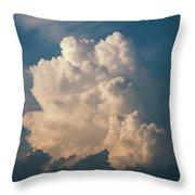 Cloud On Sky Throw Pillow