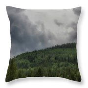 Cloud Topped Aspens Throw Pillow
