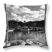 Clouds And Sailing  Throw Pillow