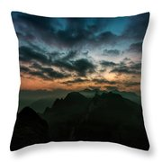 Clouds Over Mountains Throw Pillow