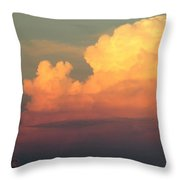 Clouds Over Pleasure Pier Throw Pillow