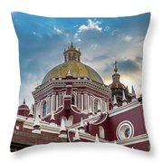 Clouds Over Puebla Cathedral Throw Pillow