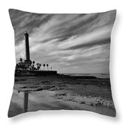 Clouds Over The Chipiona Faro Throw Pillow
