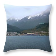 Cloudy Morning In Ushuaia, Argentina Throw Pillow