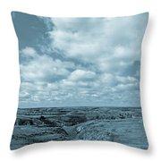 Cloudy Prairie Reverie Throw Pillow