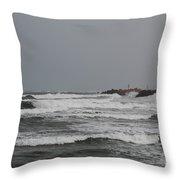 Cloudy Sea Throw Pillow