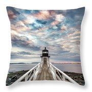 Cloudy Skies At Marshall Point Throw Pillow