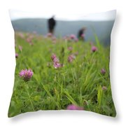 Clover Field Throw Pillow