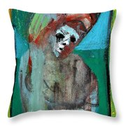 Clown At A Table Throw Pillow