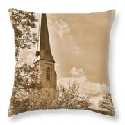 Clustered Spires Series - All Saints Episcopal Church No. 8cs - Frederick Maryland Throw Pillow
