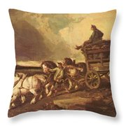 Coal Cars 1822 Throw Pillow
