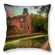 Coalport Bottle Kiln Sunset Throw Pillow