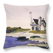 Coast Guard Station  Two Lights  Maine  Throw Pillow