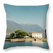 Coast Of Como Throw Pillow