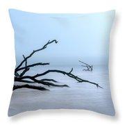 Coastal Drift Wood Throw Pillow by Tom Singleton