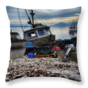Coastal Fishing Vancouver Island Throw Pillow