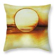 Coastal Moon Glow Throw Pillow