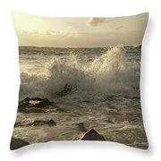 Coastal Saturday Morning Throw Pillow