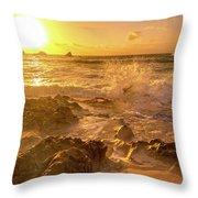 Coastal Sunrise Spectacular  Throw Pillow