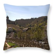 Cochem Castle And Town On Mosel In Germany Throw Pillow